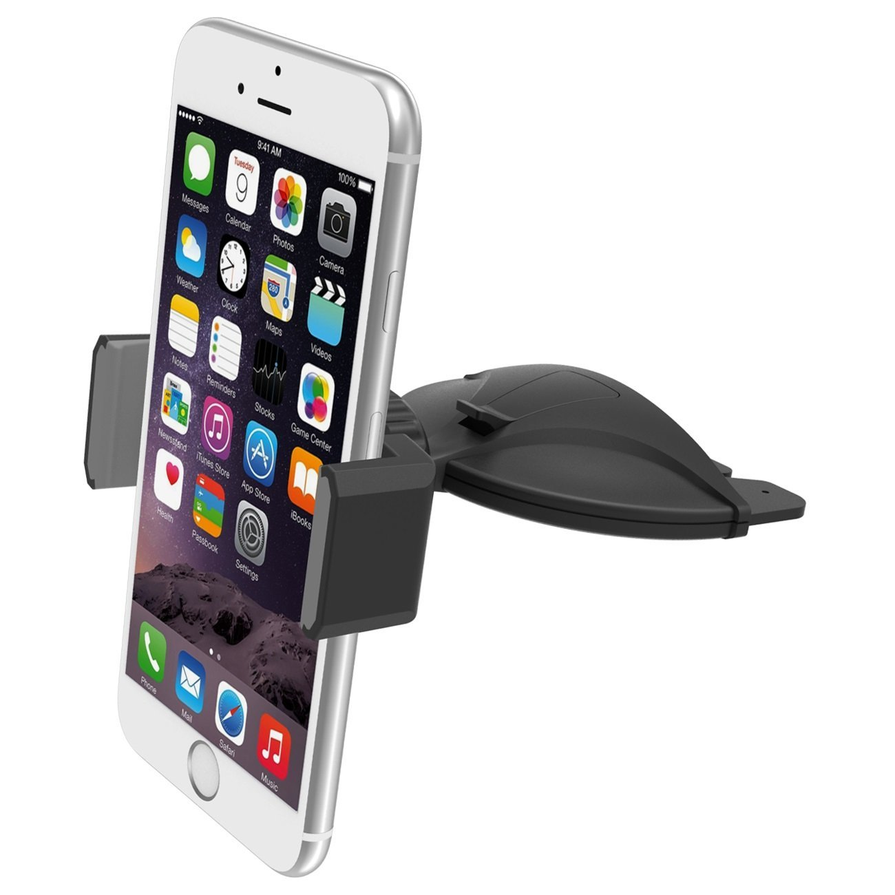 AICase Car Mount Phone Holder for iPhone 6s Plus 6s SE 5s 5c Samsung Galaxy S7 Edge S6 S5 Note 5 4 Car Mount Black//red