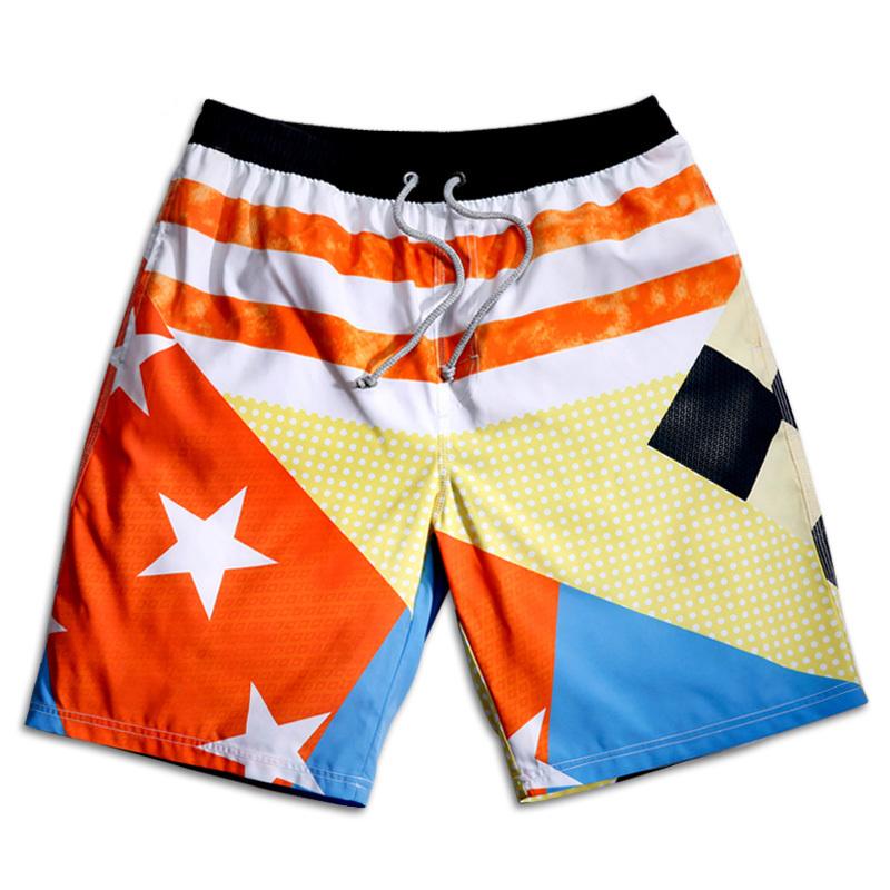 0743cbfa7333 Fashion Stars Squares 2015 Summer Men s Shorts Swimwear Brand New Surf  Board Shorts Beach Swim Short