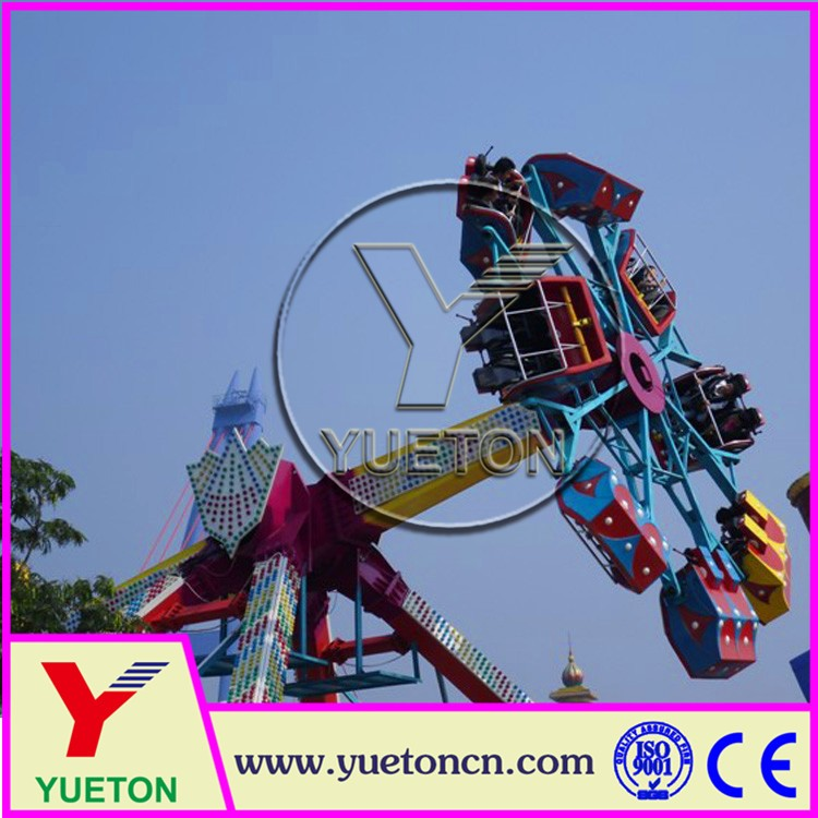 Zhengzhou Yueton Amusement Park Ride Theme Prke Ride Carnival Game Flying Turtle