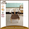 Modern hans wegner wooden Y chair with leather dining furniture