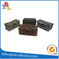 Korea style fashion portable leather star pattern cosmetic bag