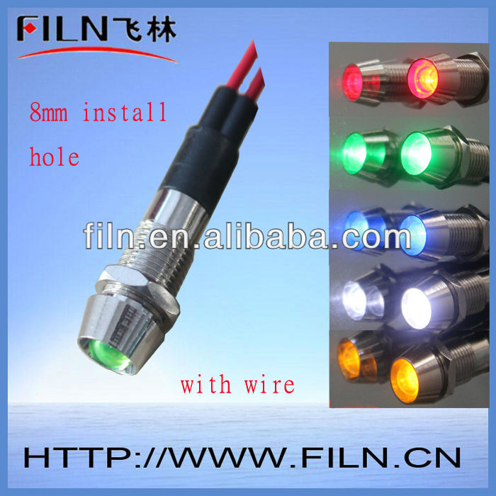 alarm indicator light 12v led with 8mm install hole