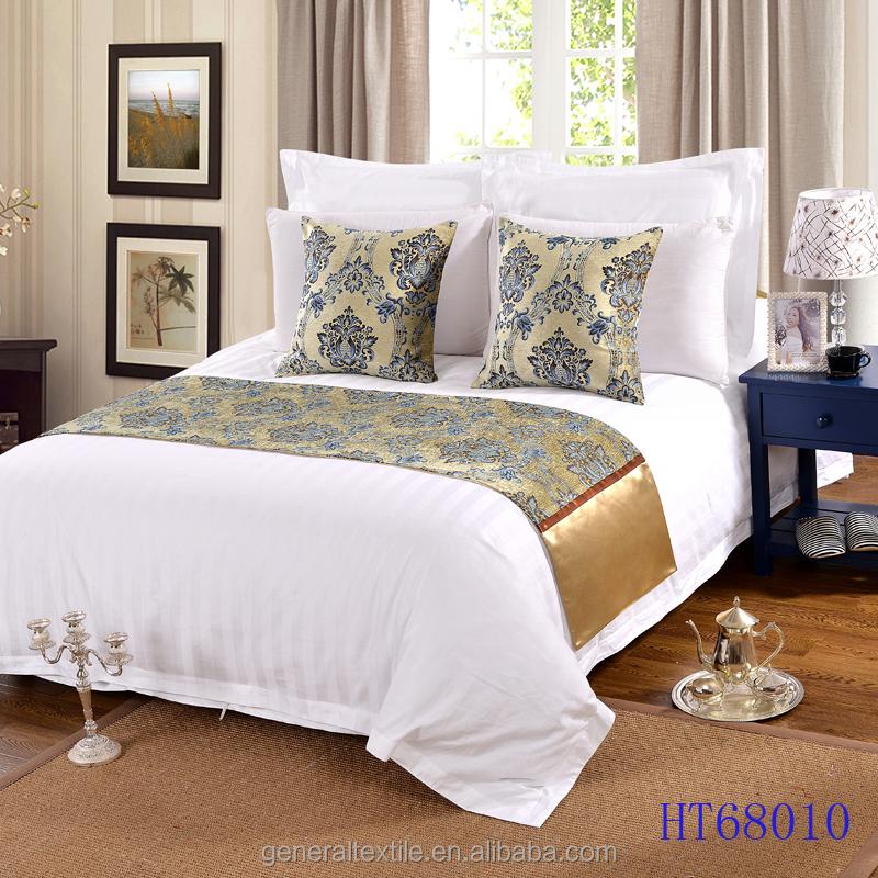 Jacquard cuscini decorativi e bed rimessa laterale letto runner per hotel biancheria da letto id - Cuscini decorativi letto ...
