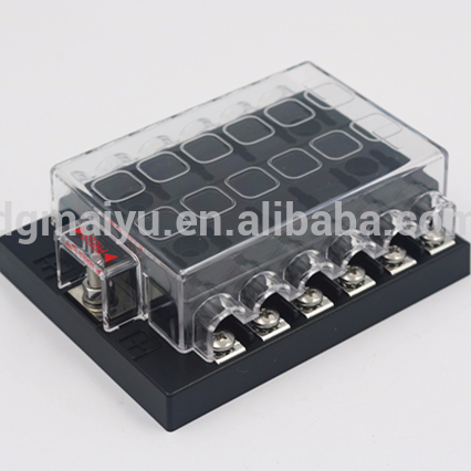 DC32V 12 Way Circuit Car Automobili ATC ATO Lama Fusibile titolare/box, Fusibile