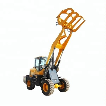 front small mini grasping wood machine wheel loader