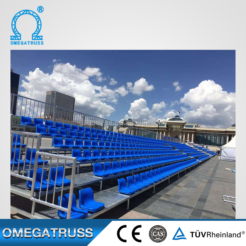 Metal custom made size plastic and metal outdoor stadium seating