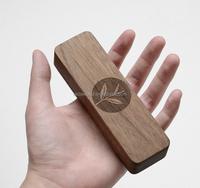 black walnut wooden tea portable carry gift box