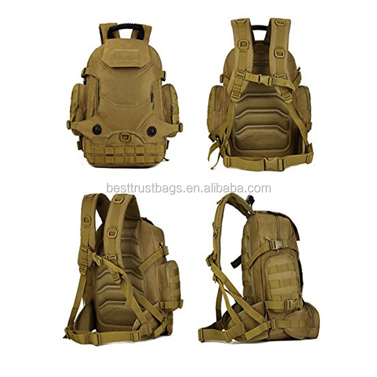 Military Style Backpack Tactical Backpack With MOLLE System Outdoor Pouch 40L Backpack