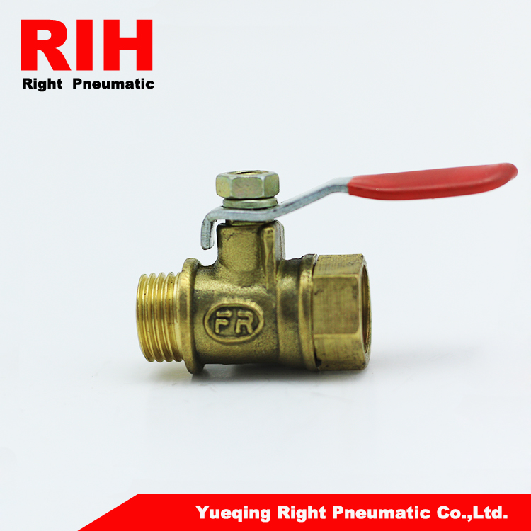 Pneumatic valves types 1/4'' 3/8'' 1/2 inch brass male-female threaded ball valves