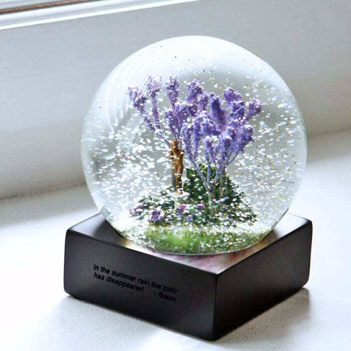 Beautiful four seasons crystal ball for birthday gift