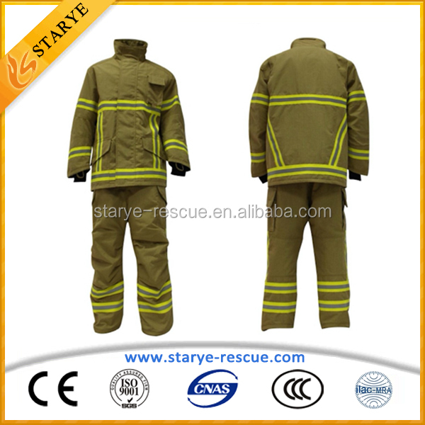 Various Size PBI Yellow Water Proof PBI Fire Fighter Suit