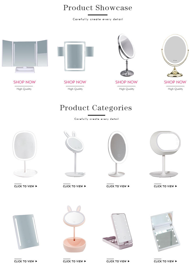 Magnifying Lighted Vanity Makeup Mirror Led Table Lamp Mirror