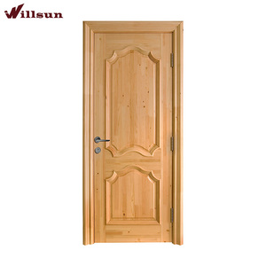 Foshan carving furniture design ash veneer solid wood panels single main door models