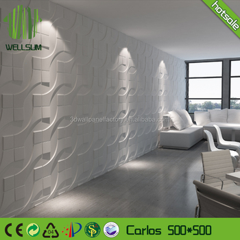 Sound Absorbing Plant Fiber 3D Wandpaneele Home Wall Deco 3D