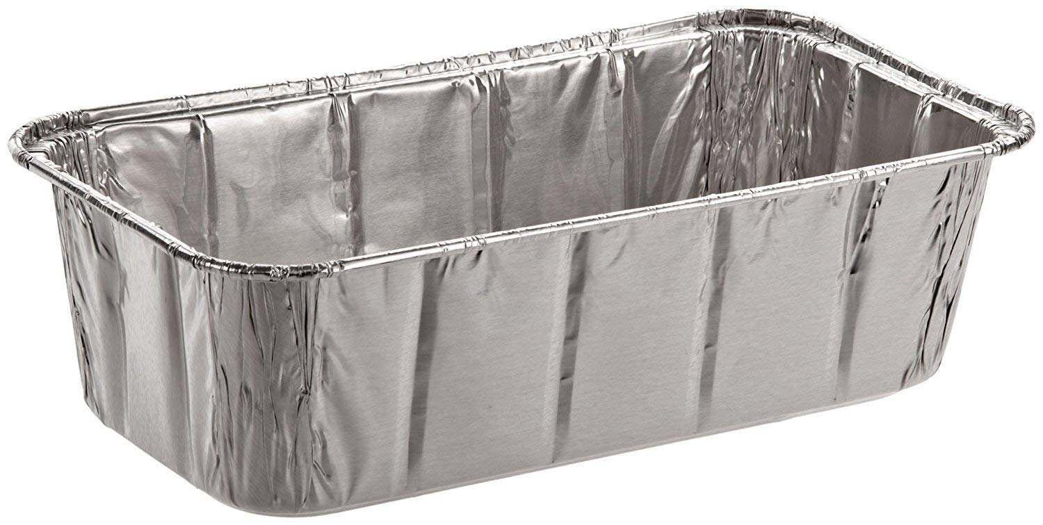 """Sherri Lynne Home Disposable Aluminum Foil 2Lb Loaf Pans and Bread Tins, Standard Size - 8.5"""" X 4.5"""" X 2.5"""", 10 Pack"""