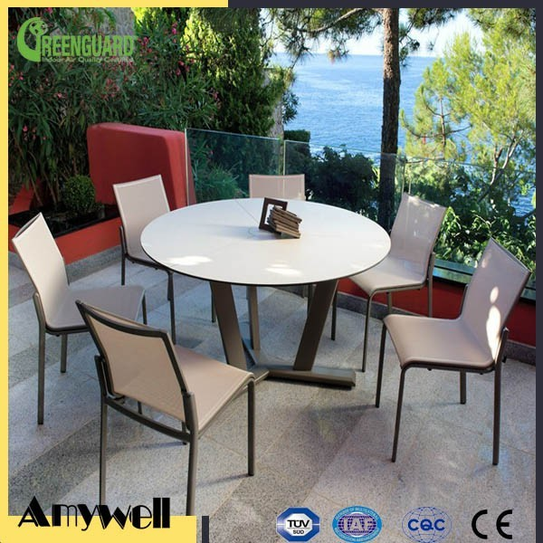 Amywell solid color 6mm waterproof compact laminate dining room table