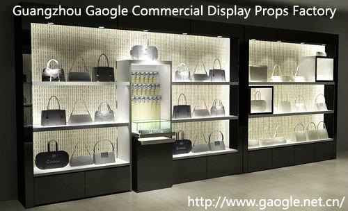 high quality mdf led lights bag display shelf buy bag display