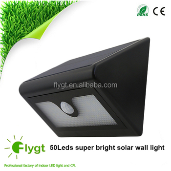 Newest Waterproof Ip65 Solar Powered Outdoor Lamp 50 Led Wall ...