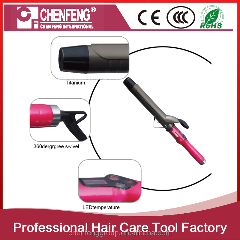 factoy wholesale private label flat iron curling wand auto hair curler