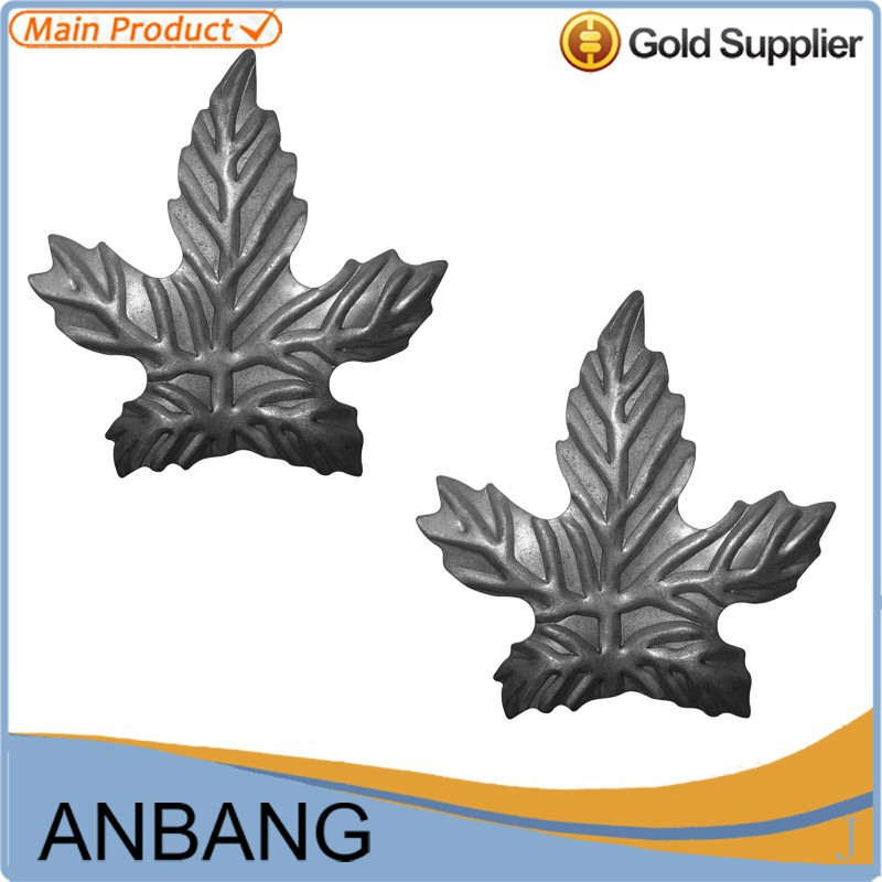 wrought iron railing part with Maple leaf shape