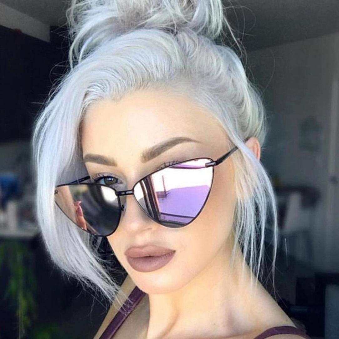 179c96198b Get Quotations · Franterd Sports Outdoor Sunglasses Eyewear- UV Glasses  Sunglasses - Vintage Cateye Frame Shades Acetate Frame