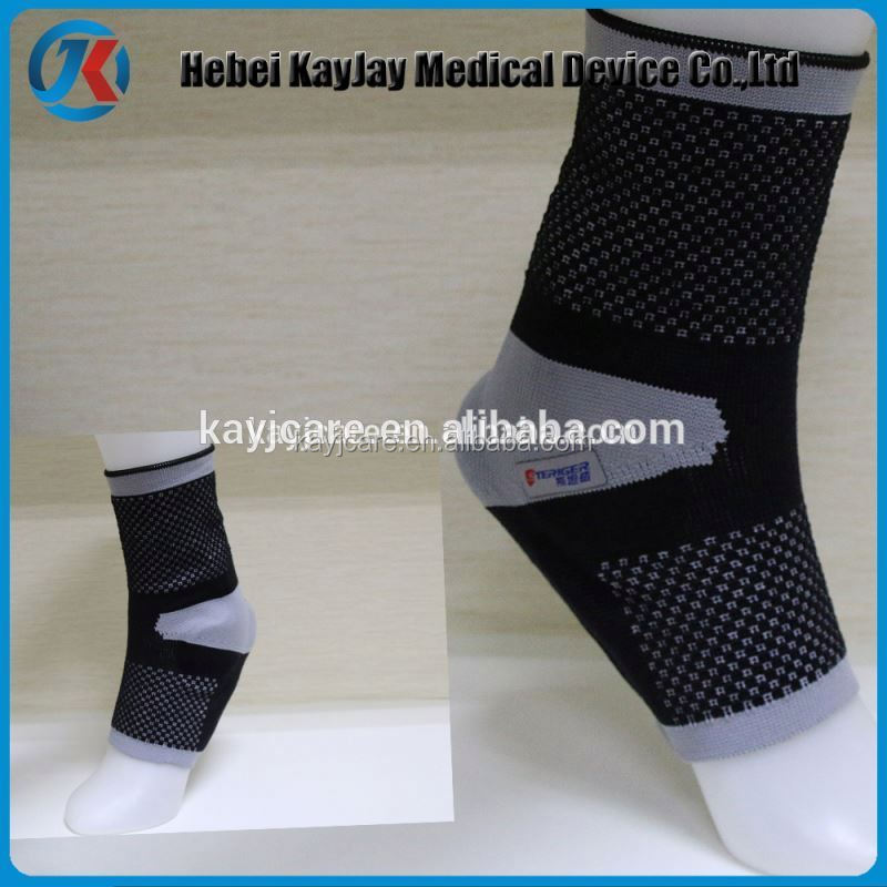 Knitting sport ankle belt with silicon buttress pad online shopping