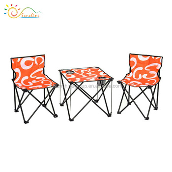 Chaise De Camping Pliante Portative Ensemble Table Et Chaises