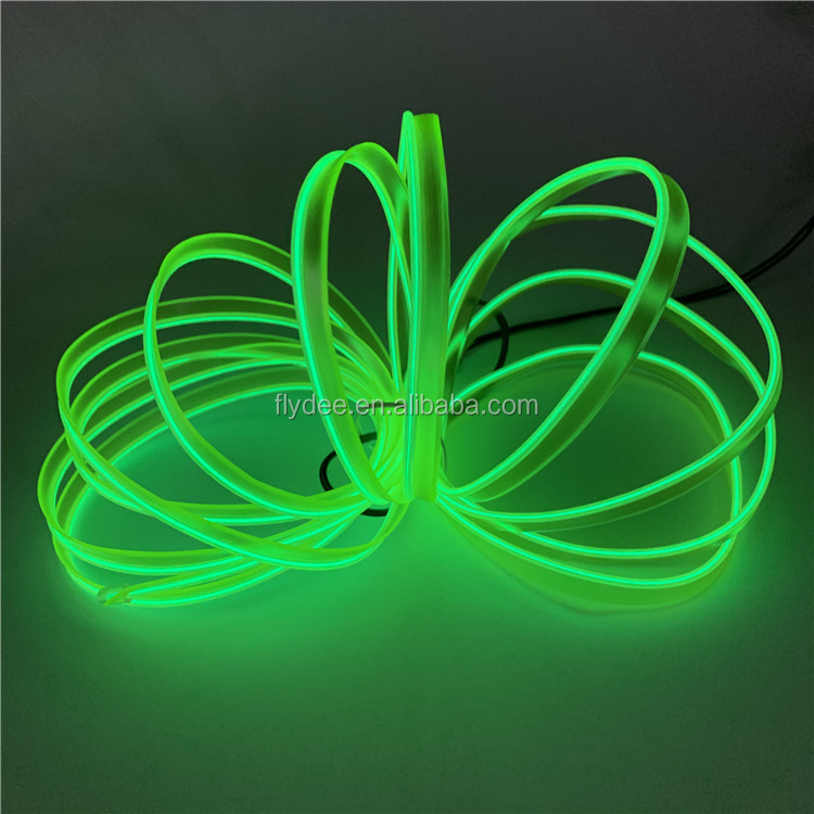 10 Colors Flexible Electroluminiscent Wire EL welted wire for car party festival decoration with AA battery