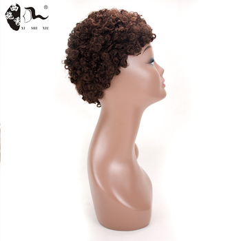 Cheap Synthetic Fiber Short Curly Wig Cosplay
