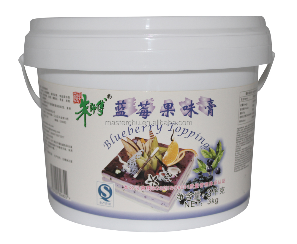 Master-Chu blueberry topping cream for bakery cake with HALAL QS 3kg