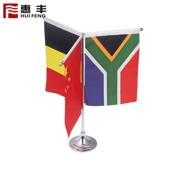 British Desk Flag Satin Table Top Flag With Stand