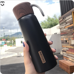 500ml insulated infuse double wall stainless steel water bottle vaccum tea cute wooden thermos manufacturers plastic flask
