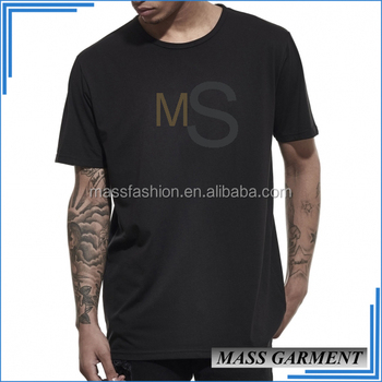 Black color rounded bottom mens t shirts xxl tall long for Xxl tall white t shirts