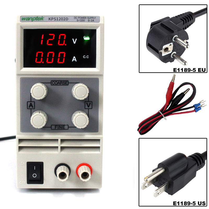 Hot sale Wanptek KPS1202D Output 0-120V 0-2A Support AC110-220V Adjustable Variable Portable Mini DC Switching Power Supply