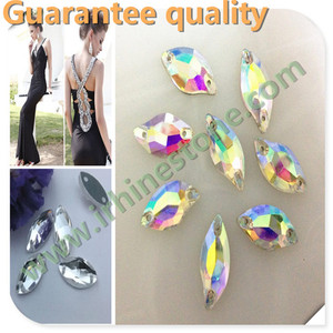 High Quality sew on acrylic resin stone for bridal dress