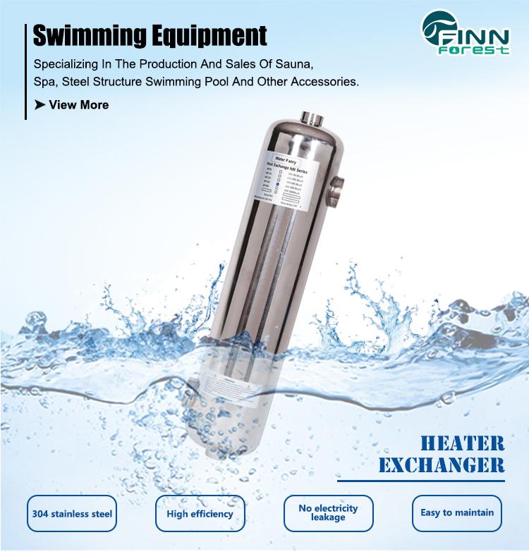 ติดตั้งง่ายคุณภาพสูงคู่ท่ออุตสาหกรรมหลอดแลกเปลี่ยนความร้อนสำหรับสระว่ายน้ำใช้
