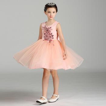 Wholesale Latest Fashion Show Dresses Kids Party Wear Dresses For