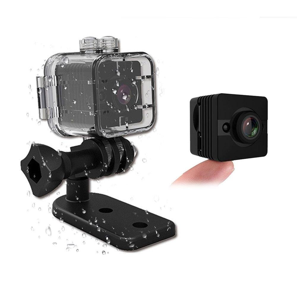Leegoal Mini SQ12 DV Camera, 1080P Portable Mini Body Nanny Cam Full HD Video Recorder Security Camera Car DVR Sports Camcorder with 30M Waterproof,Night Vision&Motion Detection for Indoor,Outdoor