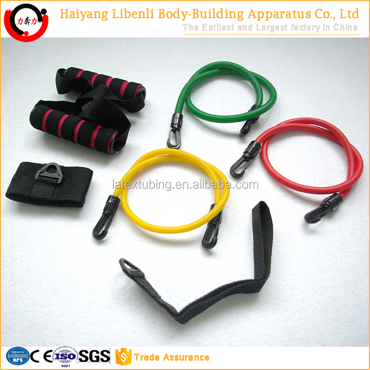 Natural Latex custom elastic resistance bands set for fitness exercise