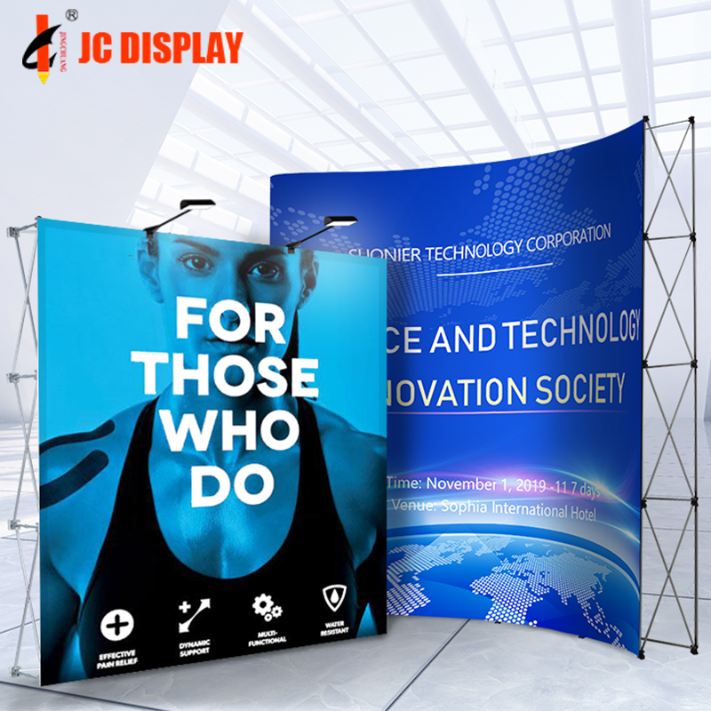 Trade Show Retractable Aluminum Backdrop <strong>Display</strong> Pop up Stand