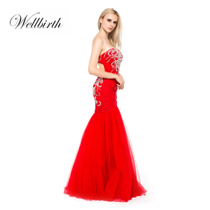 bc8ac04522c Red Mermaid Prom Dress