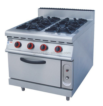 900 Commercial High End 48 Gas Cooking Range With 4 Burner Cooker