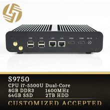 Ultra slim desktop pc mini pc i7 64GB SSD 2TB HDD gaming computer