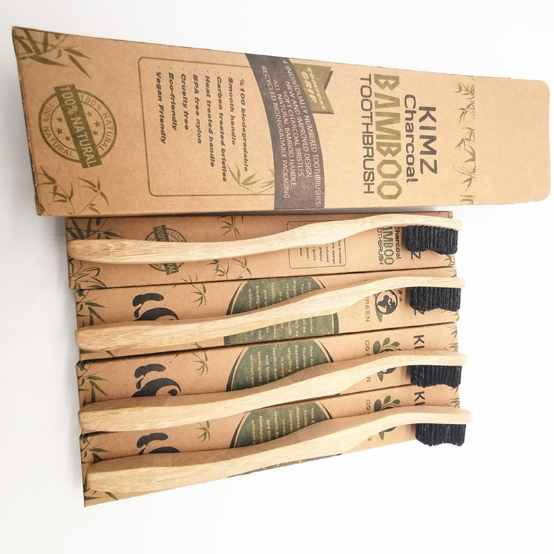 Natural Bristles Bamboo Handle Certified Organic Bamboo Toothbrush фото