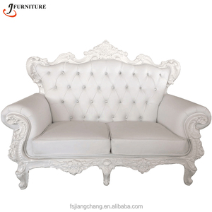 Furniture Luxury French Romantic Style Couch Top Quality Living Room Sofa