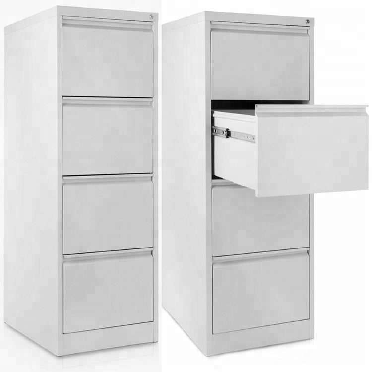 Customized Vertical Office Furniture 4 Drawers Steel File Cabinet