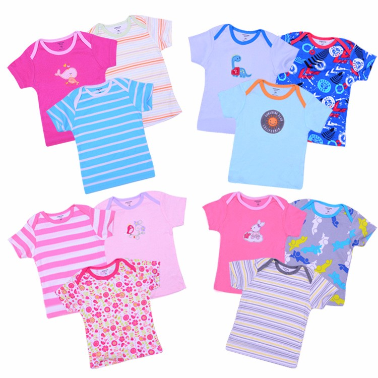 Baby clothing wholesale cotton clothes embroidered T shirt