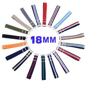 Silver color buckle bulk 18mm watch strap nato for watches belt