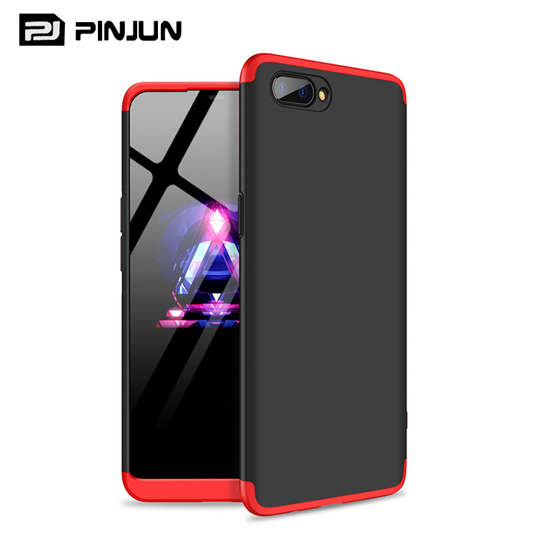 360 full cover protective 3 in 1 ultra-thin frosted matte back case cover for Realme C1 mobile cover case фото