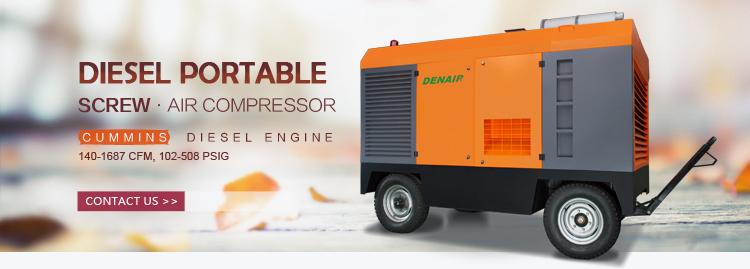 450 CFM Portable Diesel Engine Operated Screw Air Compressor